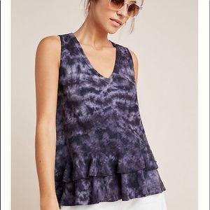Anthropologie Tie-dyed Ruffled Tank Top. NWT.